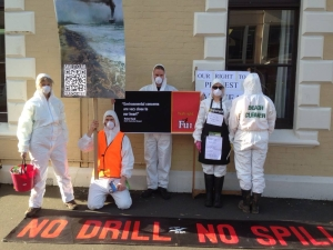 Shell Protest in Dunedin