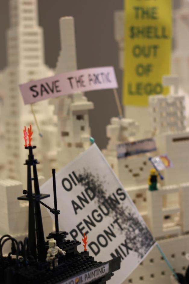 Oil Free Otago Lego Protest