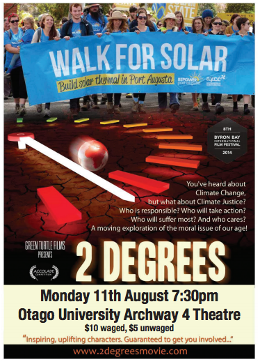Oil Free Otago Event: 2 Degrees Movie