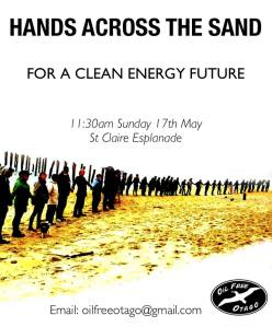 Hands Across the Sands Saint Clair, Dunedin, New Zealand Sunday 17 May 2015 11:30am #JoinHANDS #NoDeepSeaDrilling #CleanEnergy