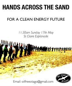 Hands Across the Sands Saint Clair, Dunedin, New Zealand Sunday 17 May 2015 11:30am #JoinHANDS #NoDeepSeaDrilling #CleanEnergy