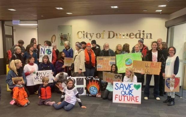 DCC protest turns celebration